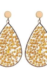 Biba Biba oorbellen goud parel