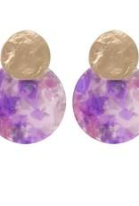Biba Biba oorbellen cirkel paars