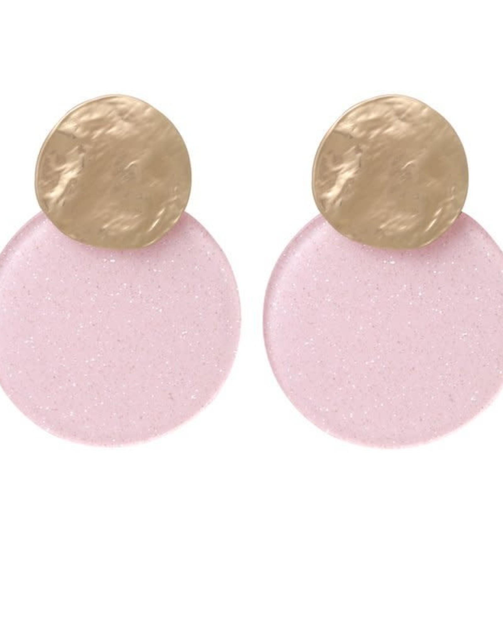 Biba Biba oorbellen cirkel licht roze