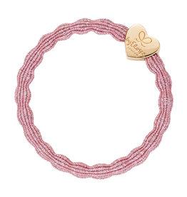 By Eloise By Eloise elastiek roze gouden hart