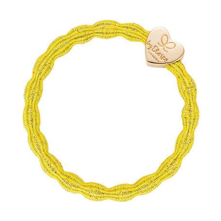 By Eloise elastiek geel gouden hart