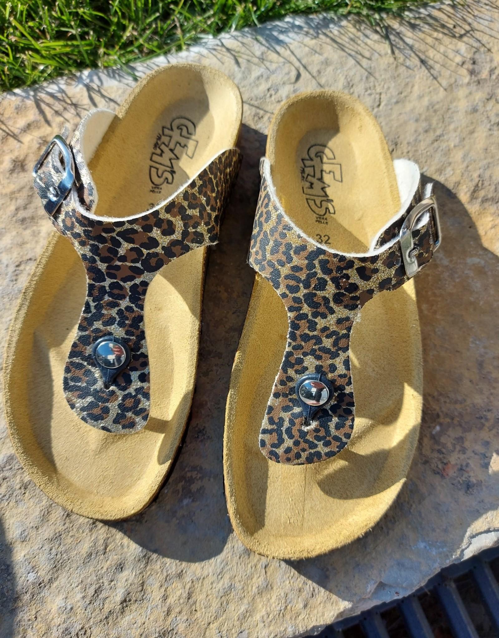 Biogem high Slippers luipaardmotief