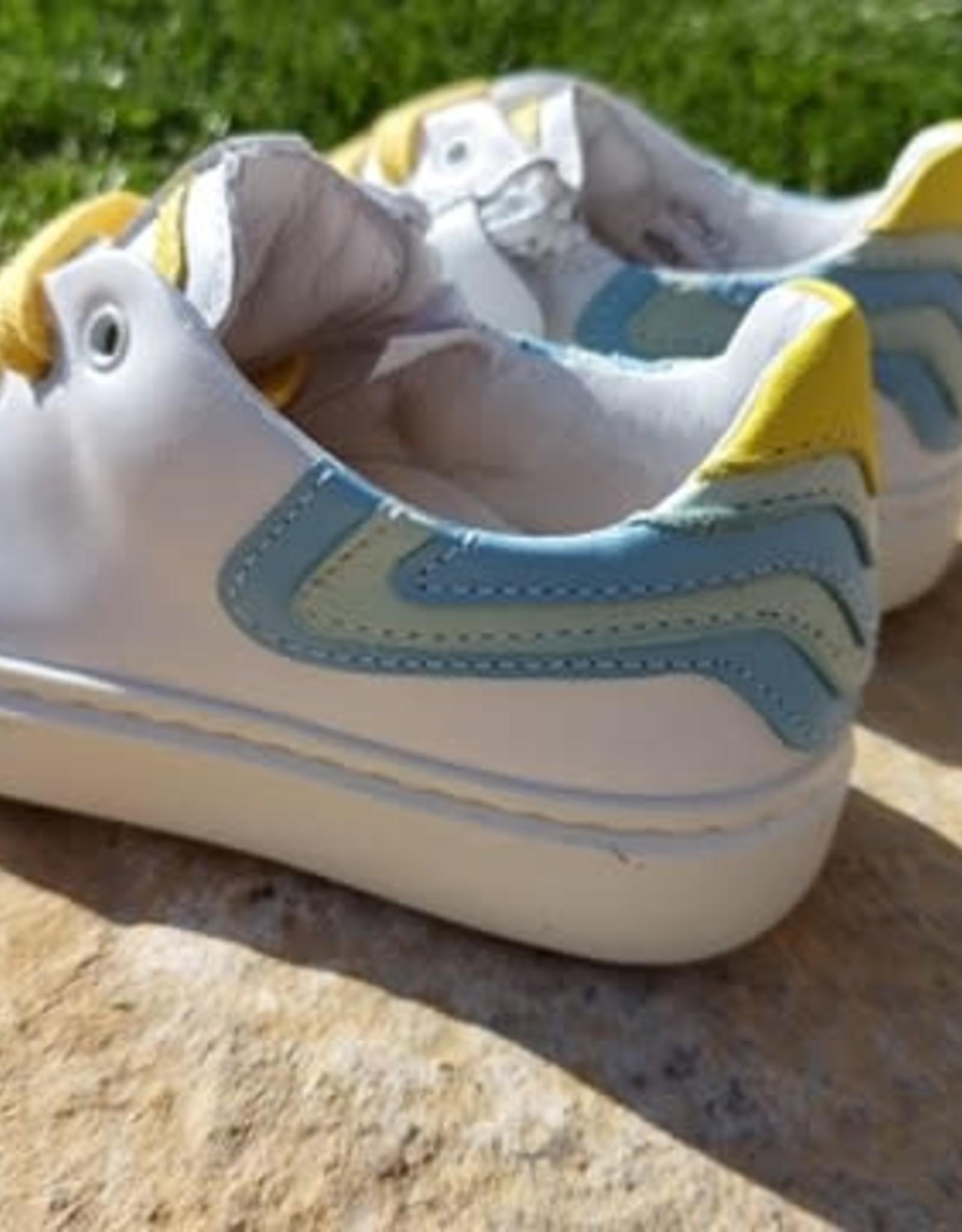 Bana & co Bana&co sneaker regenboog geel/blauw