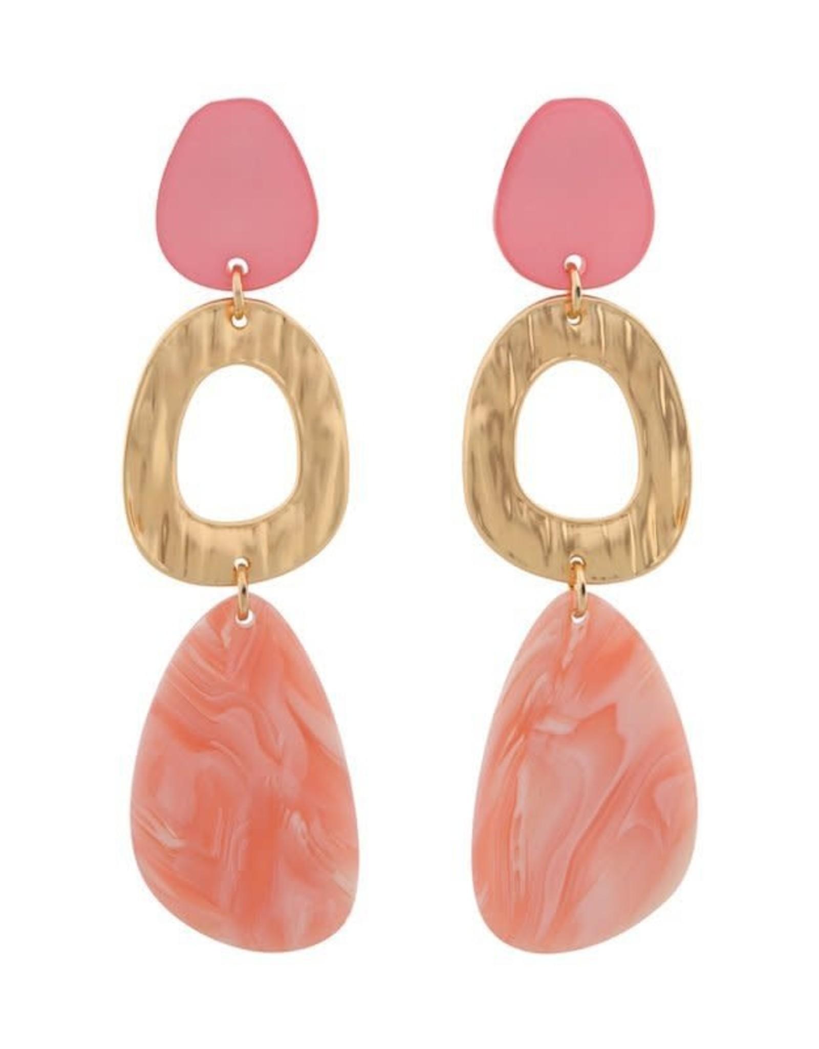 Biba Biba oorhanger licht roze