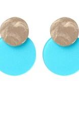 Biba Biba oorbel schijf turquoise groot