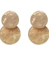 Biba Biba cirkel mini goud met glitters