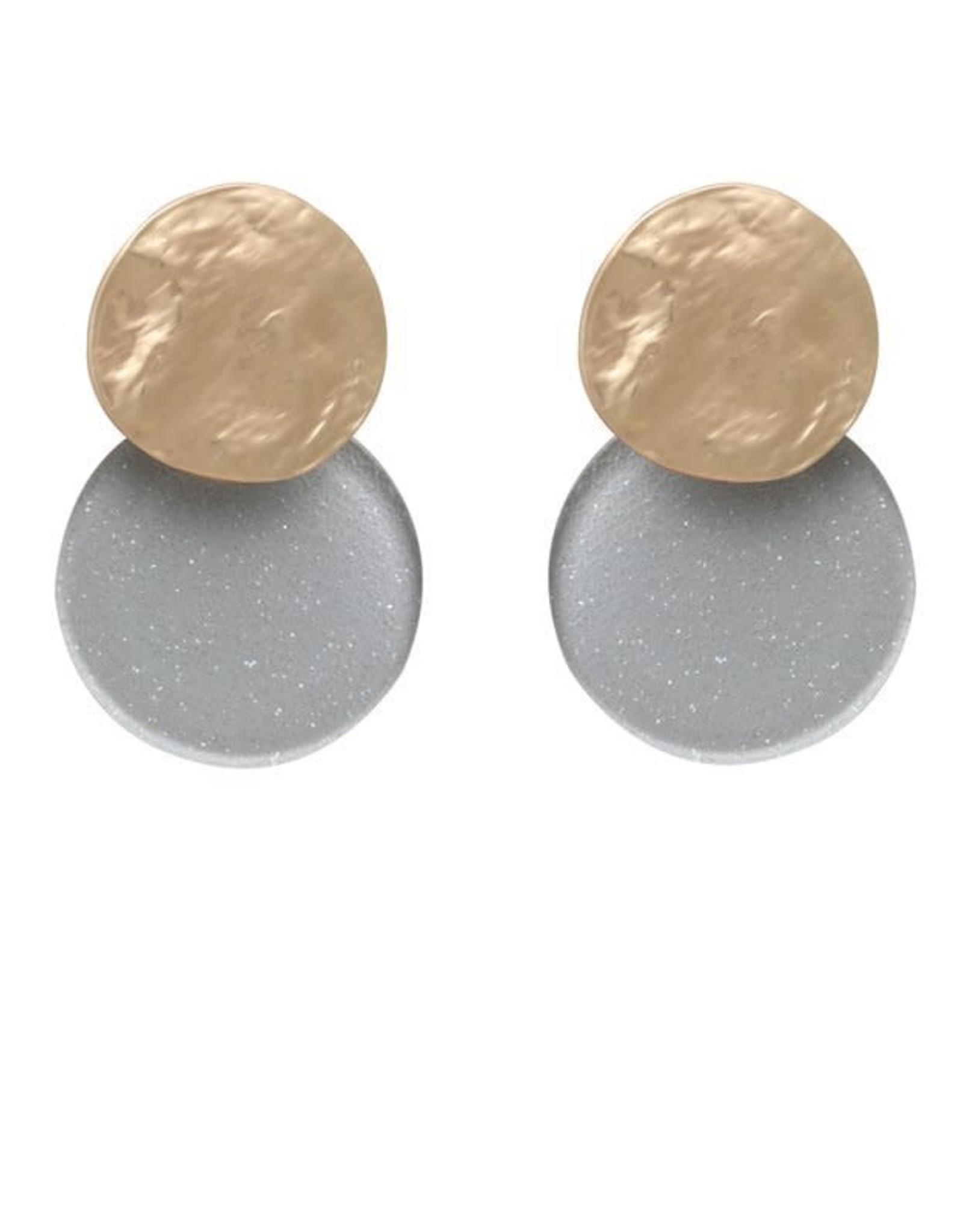 Biba Biba cirkel mini grijs met glitters