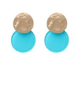 Biba Biba cirkel mini turquoise met glitters