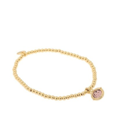 Armband met swarovski steen vintage roze
