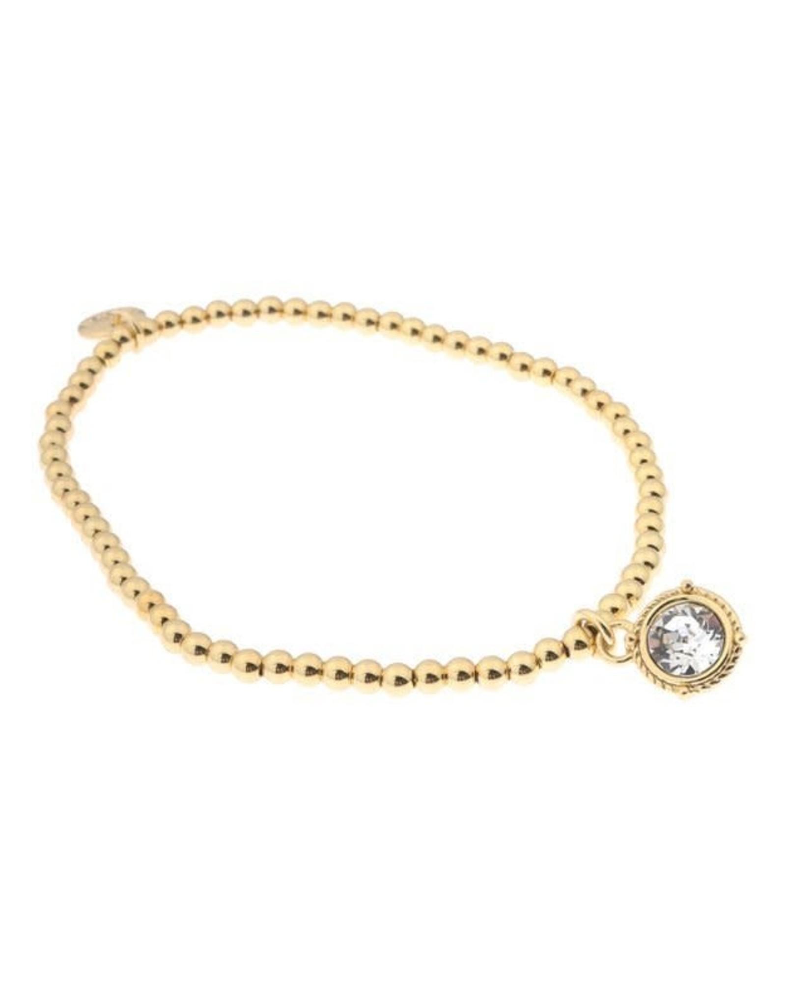 Biba Biba armband met swarovski steen crystal