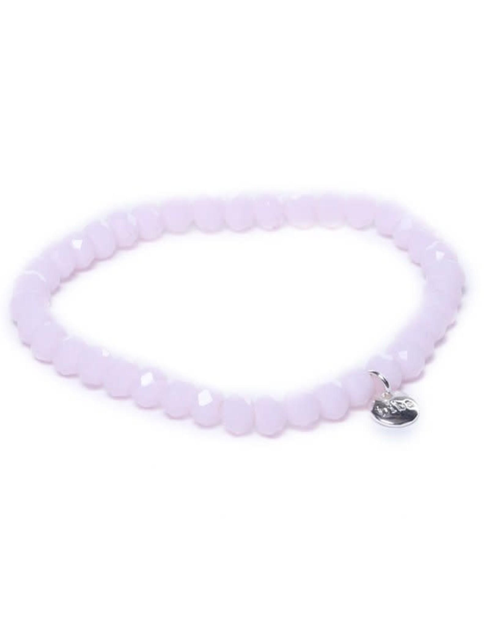 Biba Biba armband crystal licht roze 6mm