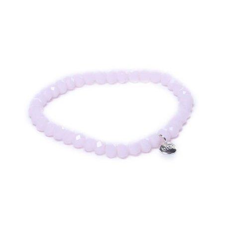 Armband crystal licht roze 6mm