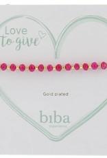 Biba Biba armband fel roze met goud