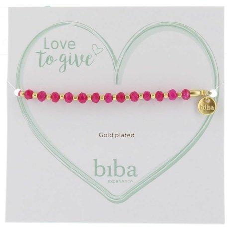 Armband fel roze met goud