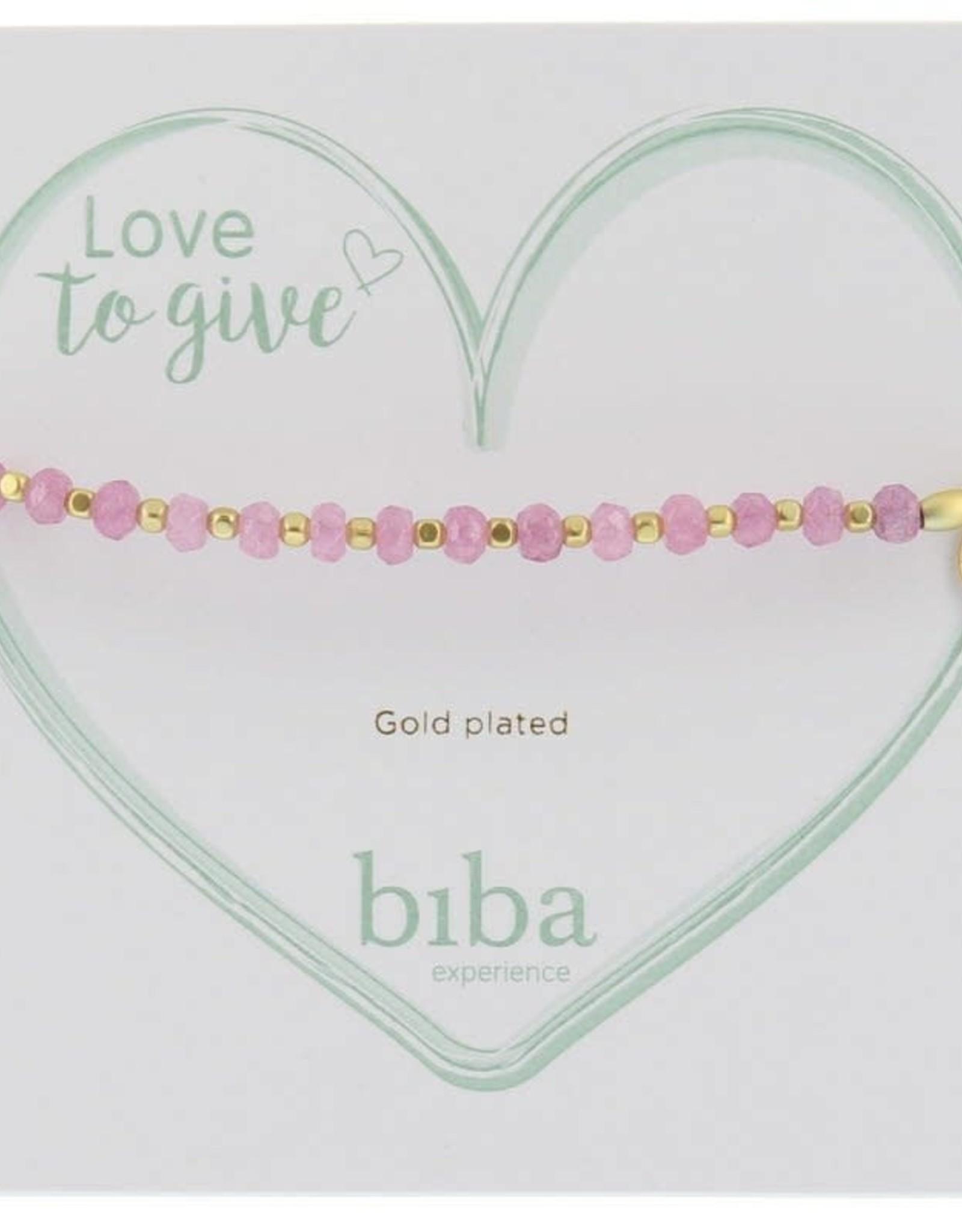 Biba Biba armband licht roze goud