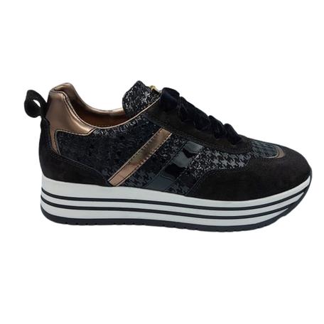 Sneaker Pied De Poule zwart