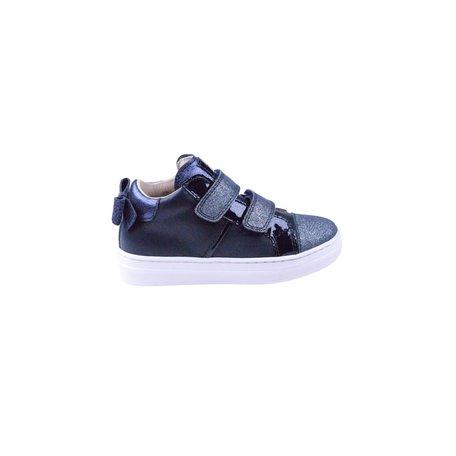 Sneaker velcro blauw strikje