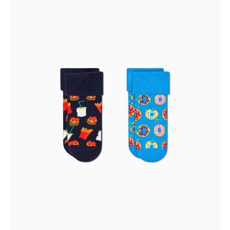 2- pack kids junk food terry socks