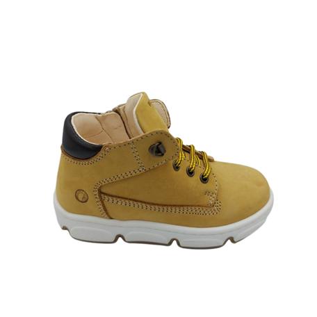 Sneaker yellow/dark brown