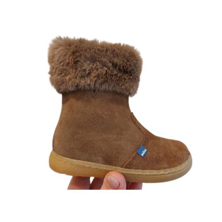 Boots met pels taupe