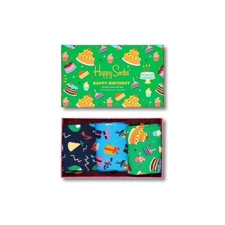 happy birthday socks gift set groen