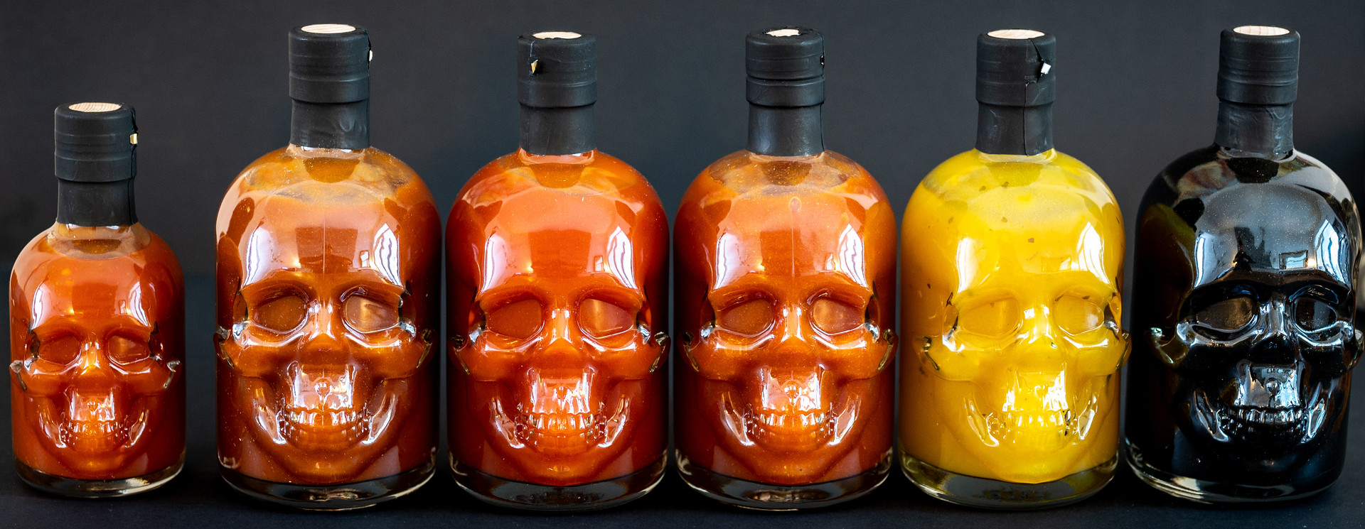 Skull Hot Sauce Collection