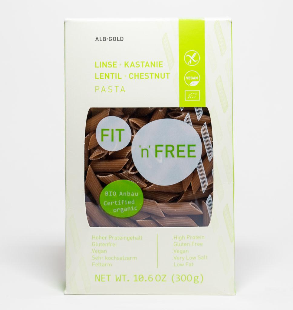 FIT'N'FREE Fit 'n' Free Lentil & Chestnut Penne