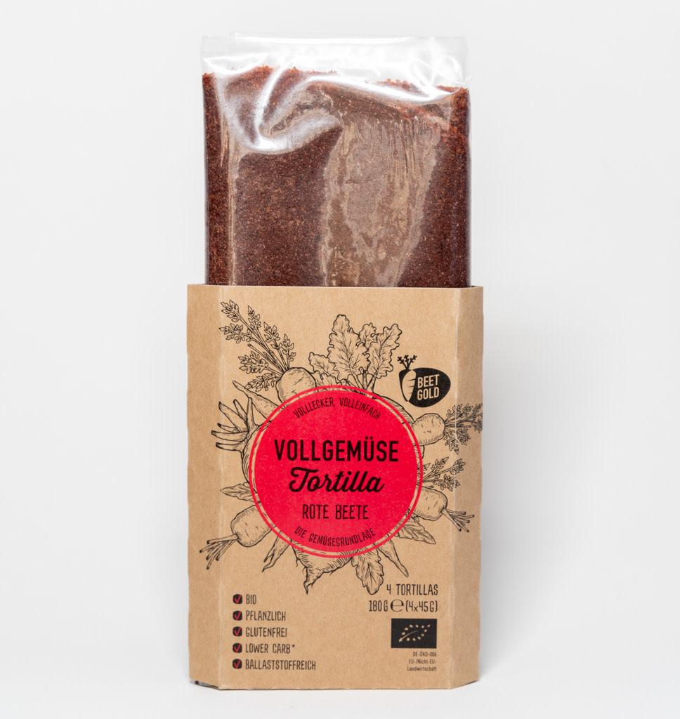 BEETGOLD BEETGOLD Vegan Rode Biet Tortilla