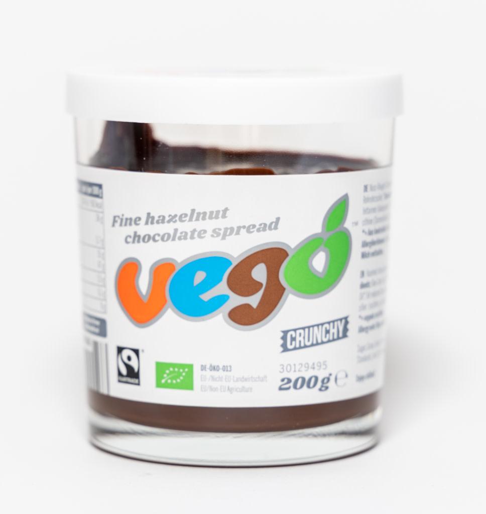 VEGO VEGO Vegan Chocoladepasta met Fijne Hazelnoten Crunchy