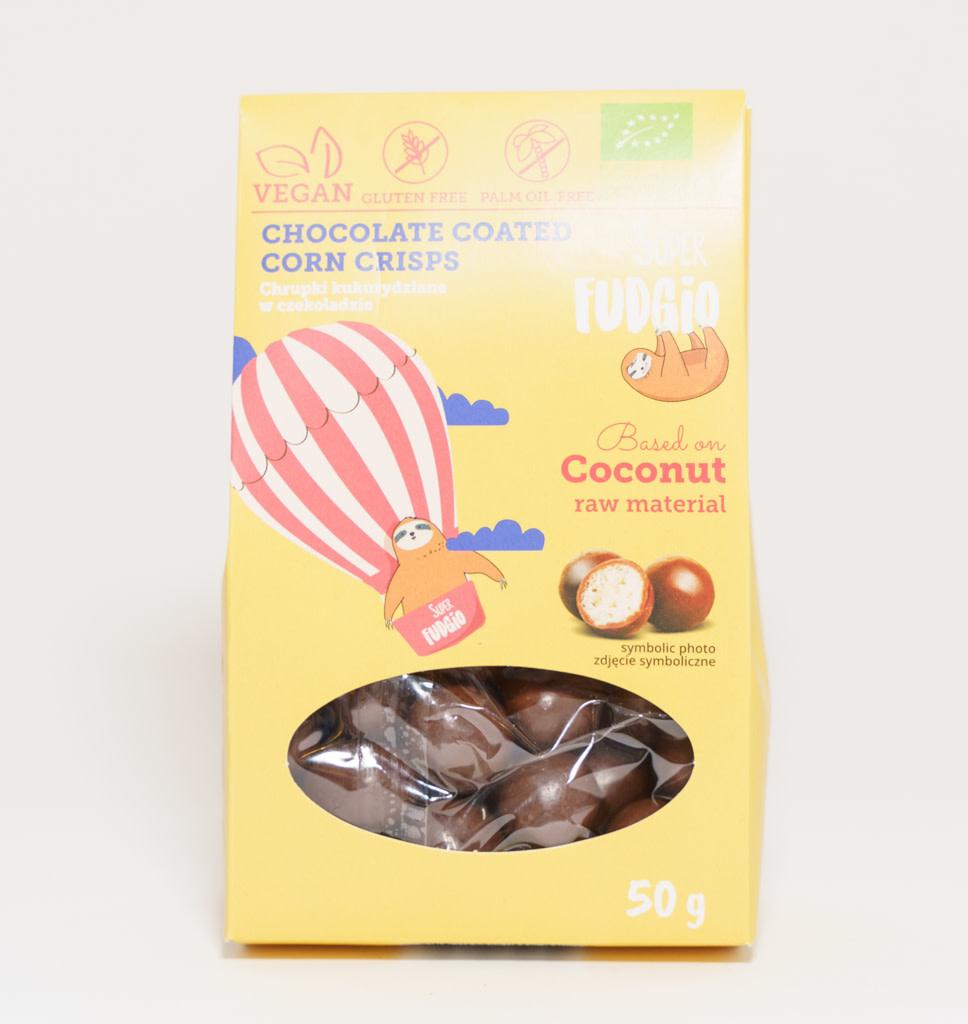 SUPER FUDGIO SUPER FUDGIO  Chocolate Coated Corn Crisps