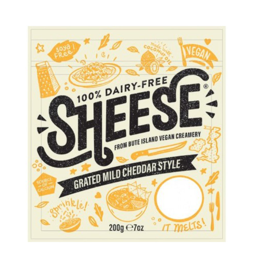 SHEESE SHEESE Mild Cheddar Style Grated