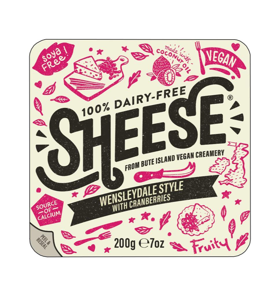 SHEESE Sheese Wensleydale Stijl met Cranberries Blok