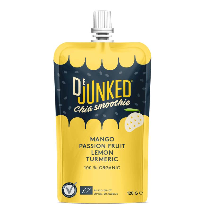 DE JUNKED DE JUNKED Chia Smoothie - Mango, Passion Fruit, Lemon & Turmeric