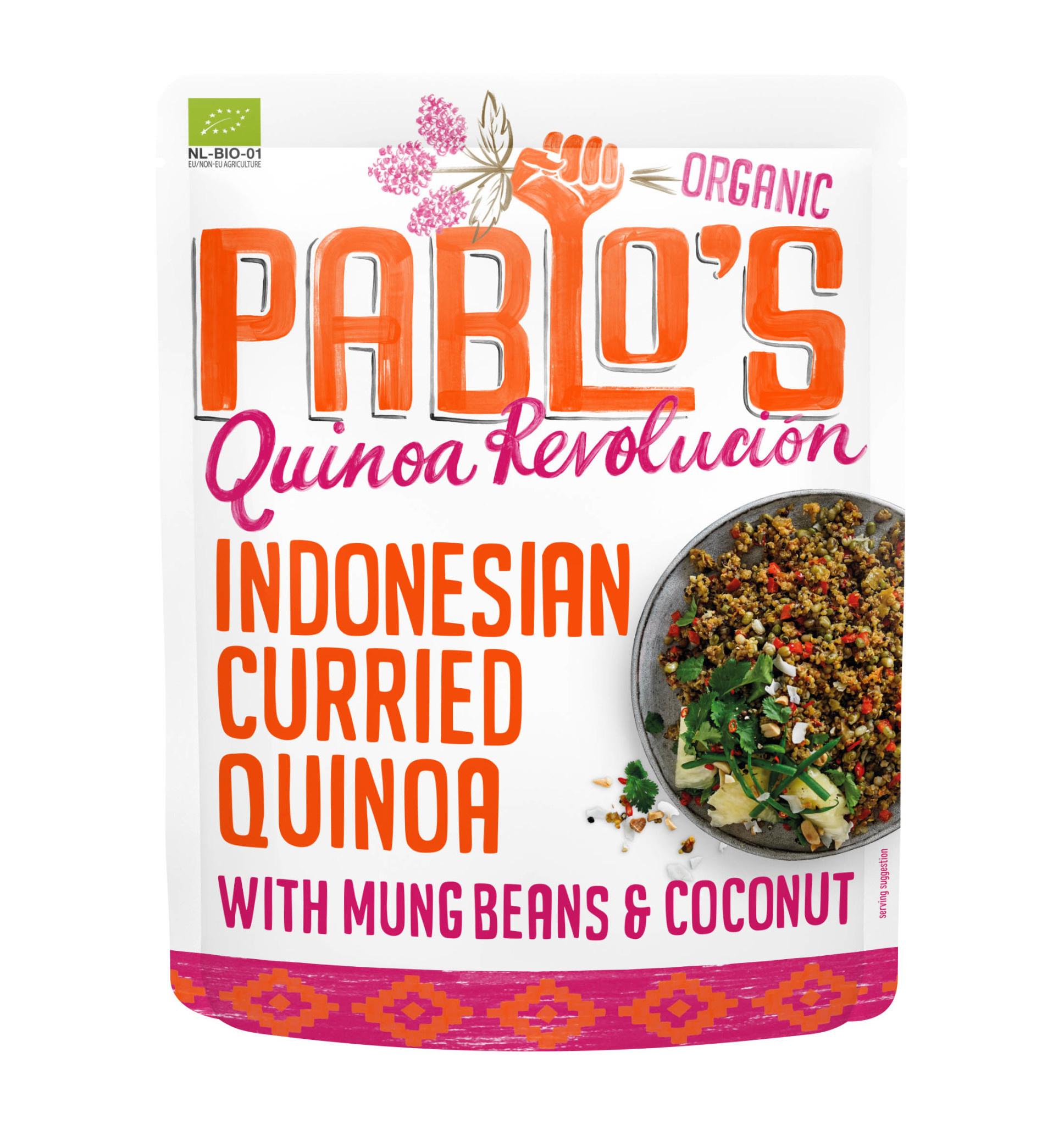 PABLO'S QUINOA PABLO'S QUINOA - Indonesian Curried Quinoa with Mung Beans & Coconut