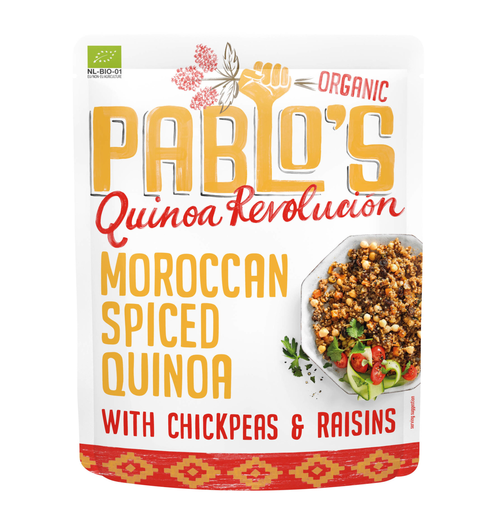 PABLO'S QUINOA PABLO'S QUINOA - Moroccan Spiced Quinoa with Chickpeas & Raisins