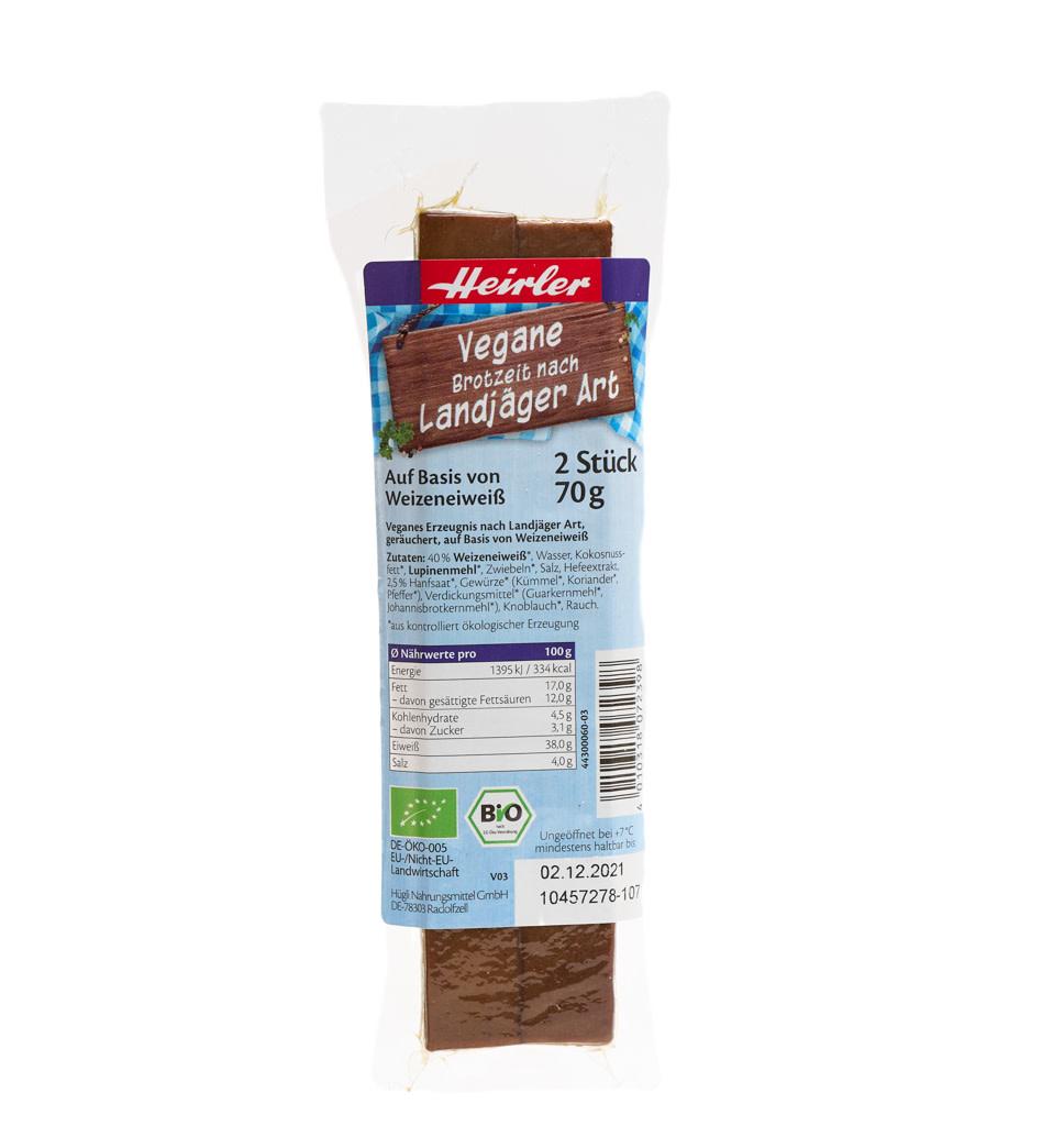HEIRLER Vegan Hefty Snack - Landjaeger Style