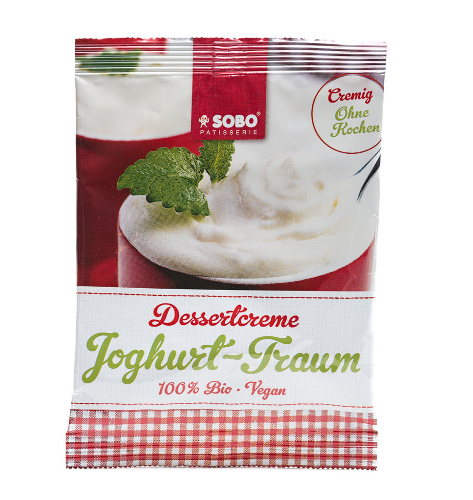 SOBO Organic Vegan Yoghurt Dessert Cream