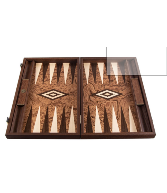 Manopoulos Manopoulos Backgammon Amerikaans Walnoot-hout 48x30cm (BURL)