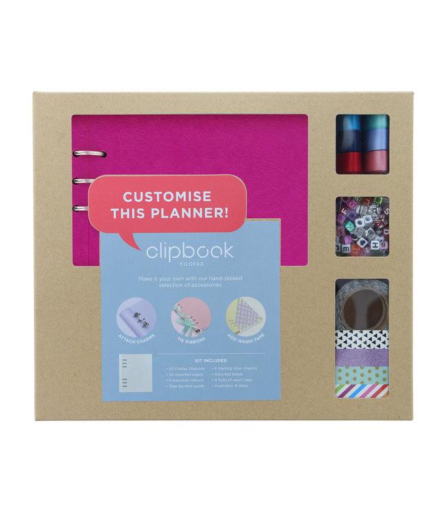 Filofax Filofax Clipbook A5 creative kit fuschia