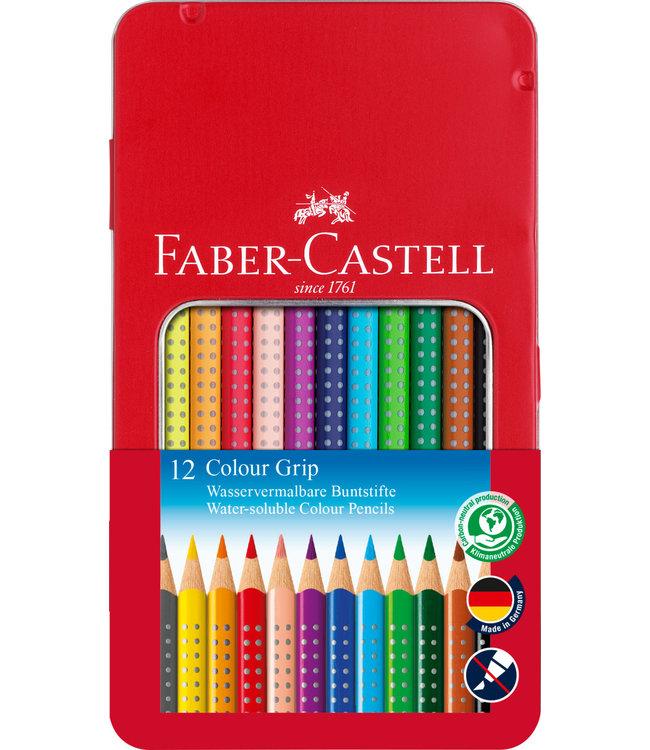 Faber-Castell Kleurpotlood grip metalen etui 12 stuks