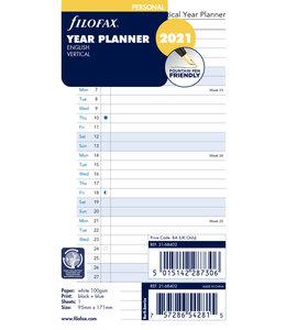 Filofax Personal jaarplanner 2021 (vertikaal)