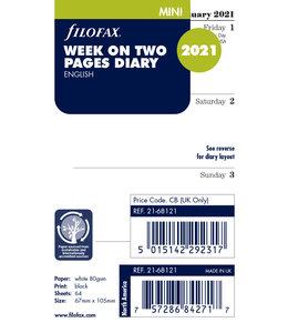 Filofax Mini Agenda-vulling (week/2 pagina's)