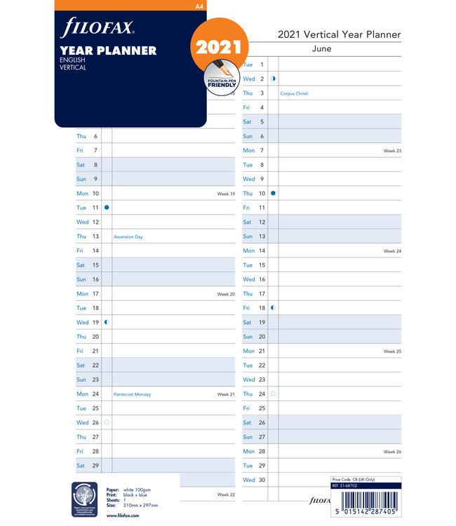 Filofax A4 Jaarplanner 2022  plan-o-rama