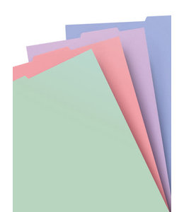 Filofax A4 Notebook refill pastel indices