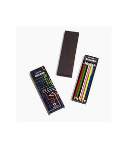 Blackwing Color Pencils with eraser  (12 pcs)