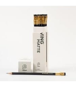 Blackwing 12 pencils, eraser, gift box Blackwing Matte  (zacht)