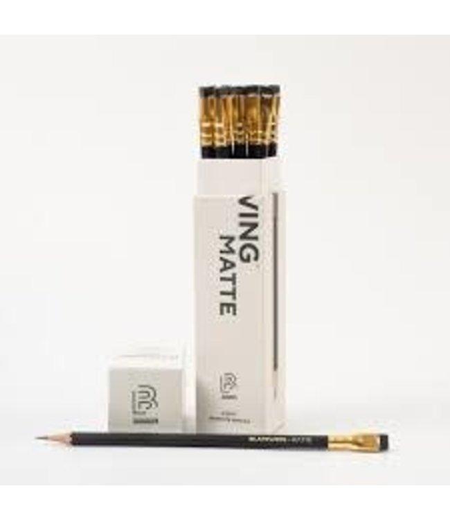 Blackwing Blackwing 12 pencils, eraser, gift box Blackwing Matte  (zacht)
