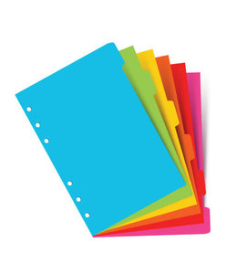 Filofax A5 Organiser Indices/tabbladen (6 stuks)