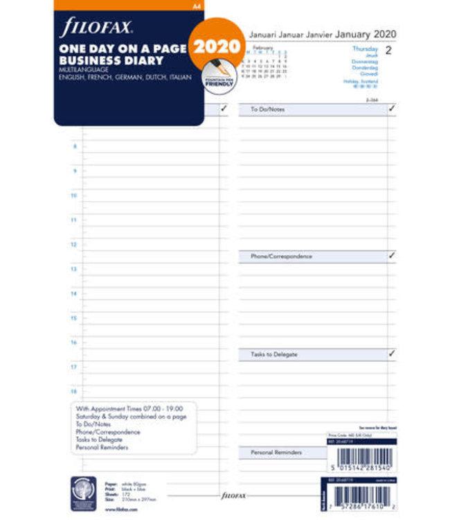 Filofax Filofax Agenda A4 vulling dag/pag lang