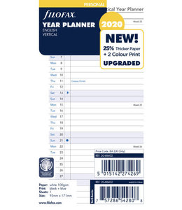 Filofax Filofax 2020  Personal jaarplanner verticaal